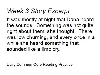 High Interest Low Readability Daily Common Core Weeks 1-4 (Middle School)