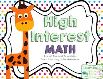 High Interest Math Activities - A GROWING BUNDLE