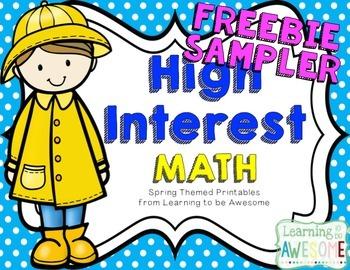 High Interest Math Activities - SPRING THEMED FREEBIE SAMPLER