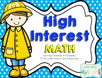 High Interest Math Activities - SPRING/EASTER THEME