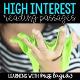 High Interest Non-Fiction Close Reading Passages GROWING BUNDLE