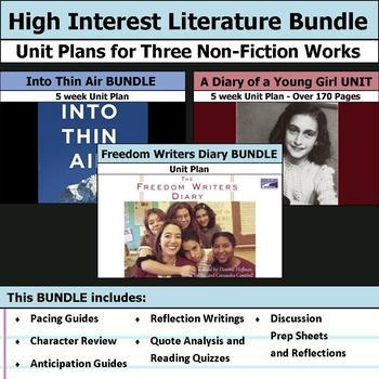 High Interest Non-Fiction Literature Unit Bundle