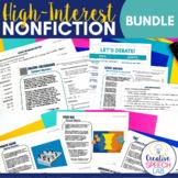 High Interest Nonfiction Passages BUNDLE