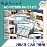 High Interest Nonfiction Passages with Debate Theme - Differentiated