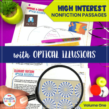 Distance Learning - High Interest Nonfiction Passages with Optical Illusions