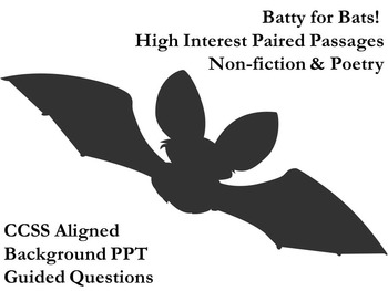 High Interest Paired Non-fiction and Poetry - Batty for Bats
