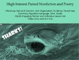 High Interest Paired Passages - SHARKS! Middle School ELA