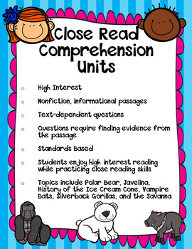 High Interest Passages for Close Reading Skills