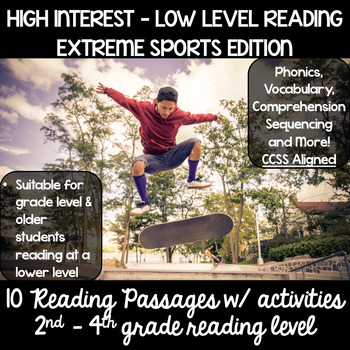 Guided Reading High Interest Passages : Extreme Sports 2nd - 4th reading levels
