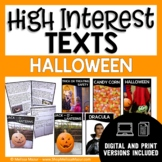 High-Interest Texts - Halloween Reading Passages and Compr