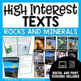 High-Interest Texts - Rocks and Minerals - 10 Reading Comp