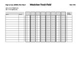 High Jump / Pole Vault Record Sheet