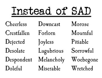 High-Level Synonyms for High School Writers!