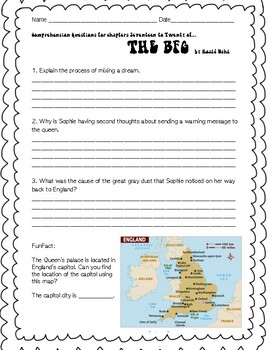 The BFG by Roald Dahl High Level Thinking Questions