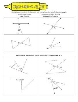 High-Like-It A LOT: Angle Relationships