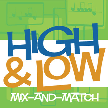 High & Low Mix-and-Match | Pitch Worksheets and Game (Digital Print)