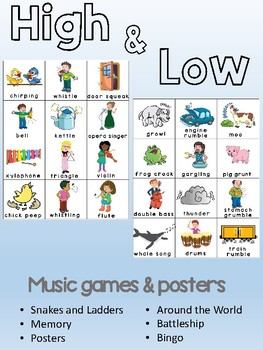High & Low - Music opposite concept games and posters
