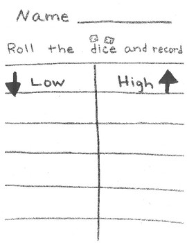 High/Low dice game