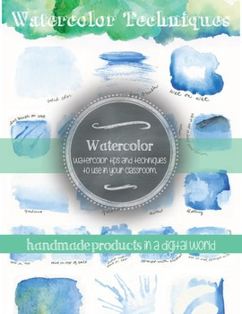Watercolor Techniques Poster: Elementary, Middle, or High School Decor