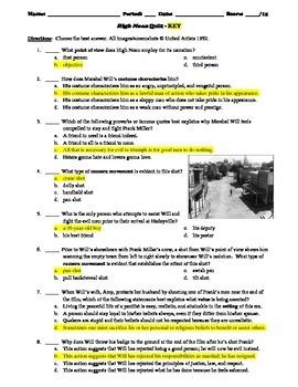 High Noon Film (1952) 15-Question Multiple Choice Quiz