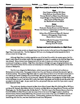 High Noon Film (1952) Study Guide Movie Packet