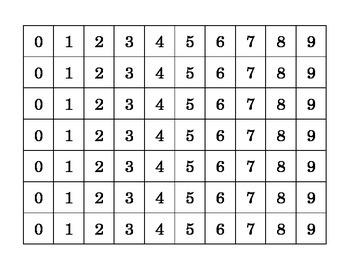 High Number Decimal Place Value Card Game