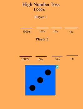 High Number Toss Smartboard Game