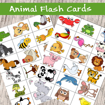 photo relating to Printable Pictures of Animals known as Large Good quality Printable Animal Flash Playing cards