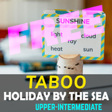 High Quality! Taboo cards - HOLIDAY BY THE SEA -SAMPLE