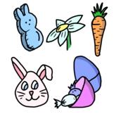 High Resolution Original Hand Drawn Easter Clip Art