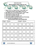 High Roller - place value game - dice game for math centers