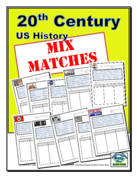 High School:20th Century Mix Match Review Activity