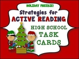 HIGH SCHOOL ACTIVE READING TASK CARDS AND PRINTABLE