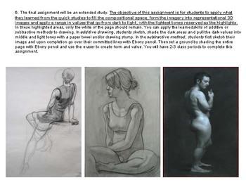 High School - Advanced Figure Drawing w/ Mannequins