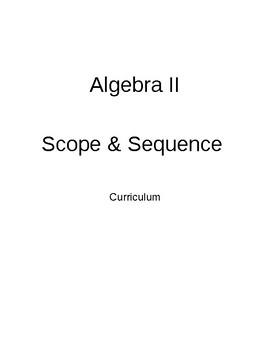 High School Algebra 2 Year Long CCSS Lesson Plans
