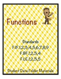 High School Algebra - Functions Standards Student Data Folder