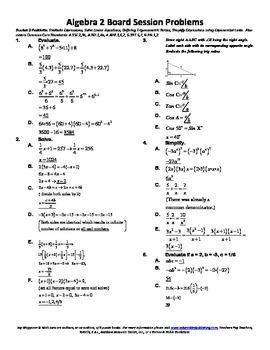 High School Algebra II,Trigonometry,Mathematics,activities,Combo Package 15