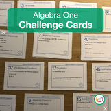 High School Algebra Task Cards challenging questions