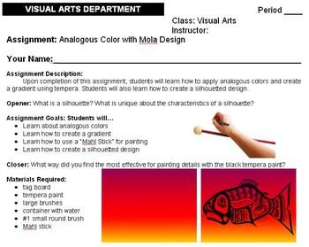 High School - Analogous Color with Mola Design