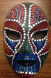 High School Art- Aboriginal Mask lesson