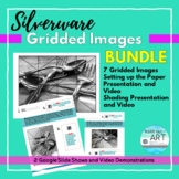 High School Art: Distance Learning-Silverware Gridded Images