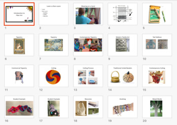 High School Art Lesson Plan. Introduction to Fiber Arts. Craft Unit