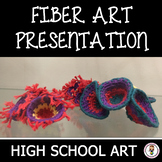High School Art. Introduction to Fiber Art. 21 images with