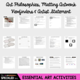 High School Art Lesson Plan. Introduction to Writing an Artist Statement.