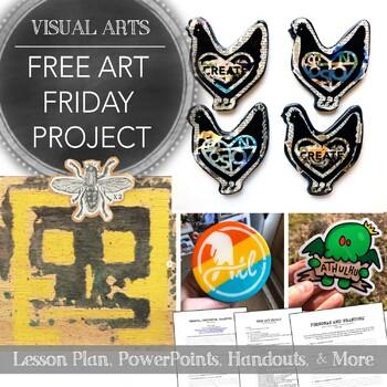 High School Art Project: Free Art Friday, Art Personas, Branding, and Sharing
