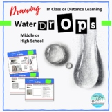 Distance Learning: High School Art -Shading Water Drop