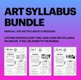 High School Art Syllabus Bundle! Easy to edit in Google Sl