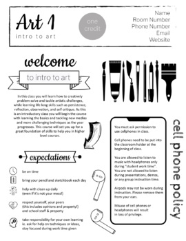 create a syllabus template - high school art syllabus completely editable by art by