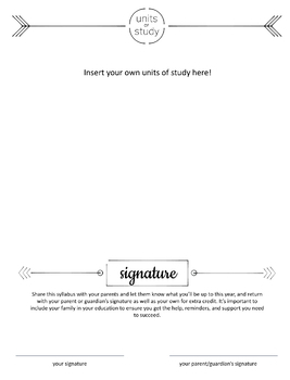 High School Art Syllabus - completely editable!