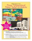 High School Art Three -Dimensional  Paper Relief Sculpture